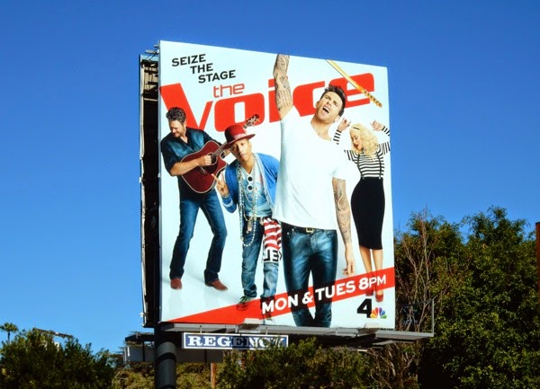 The Voice season 8 Adam Levine billboard