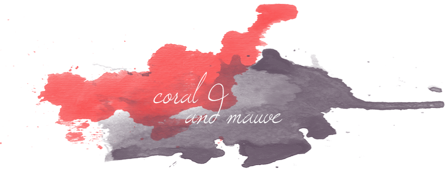 coral and mauve