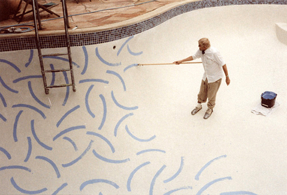 david hockney painting a pool on one more good one