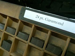 Ludlowの母型はGaramondでした