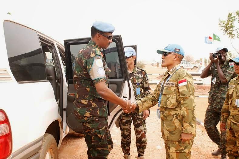 Jenderal Tanzania Kunjungi Satgas TNI di Darfur