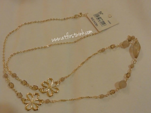 3Coins flower necklace