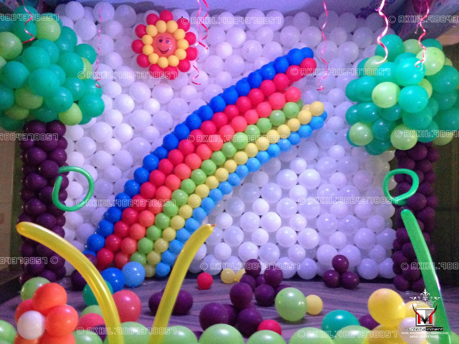 Balloon party decorators balloon decorations birthday for Balloon decoration in chennai