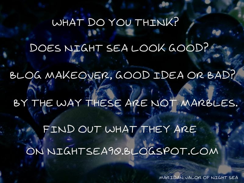 Night Sea's new look, what do you think of it? Find out what the image is of on the blog.