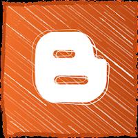 Hand Drawn Orange Blogger Logo