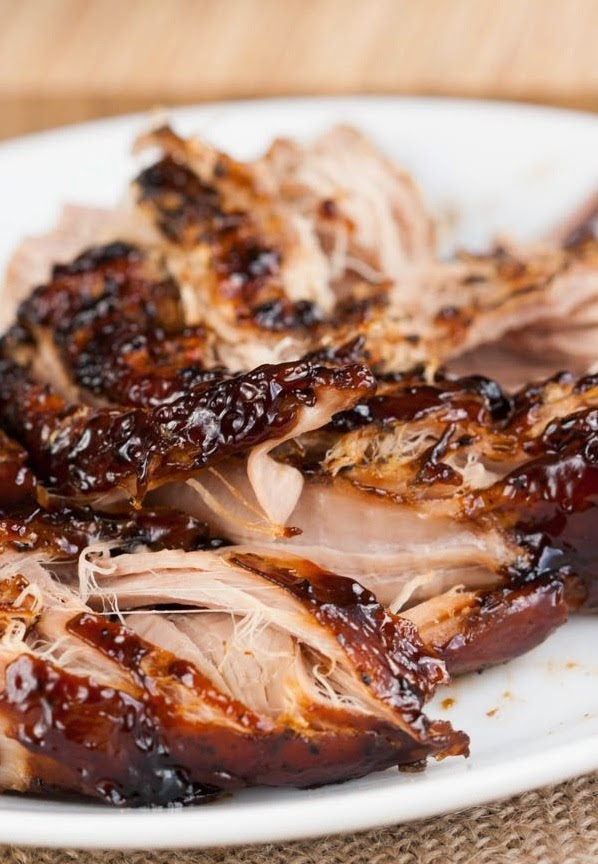 Crockpot Brown Sugar Balsamic Glazed Pork Tenderloin | FoodGaZm..