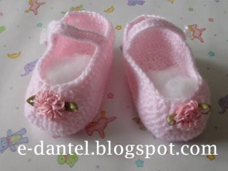 Kız Bebek Patiği Modeli