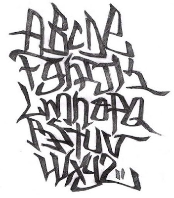 Graffiti Alphabet A-Z Sketches Design