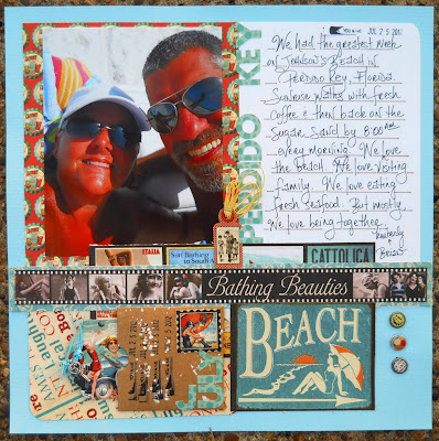 Bathing Beauties Scrapbook Page