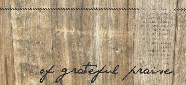 of grateful praise