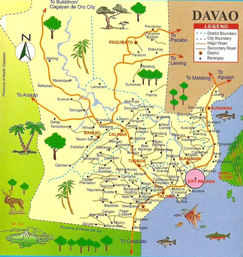 The chic backpacker cheap things to do in davao city map of davao city from visitphilippines gumiabroncs Image collections
