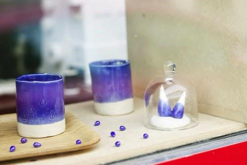 Pièces en porcelaine réalisées par Sencillo