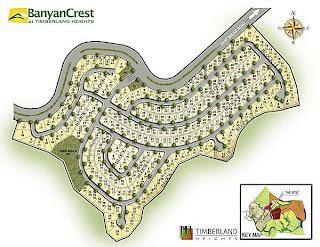 Banyan Crest at Timberland Heights Quezon City Environs Site Development Map