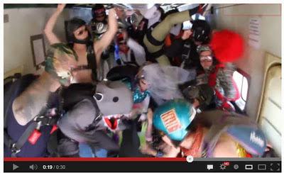 Red Bull skydive Harlem Shake