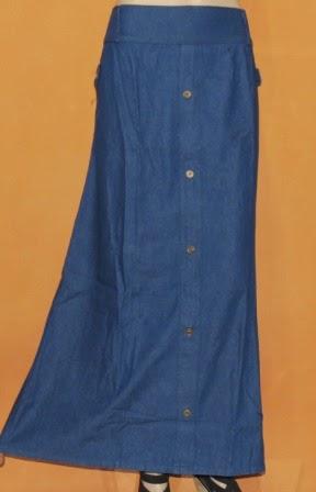 Rok Muslimah Bahan Jeans RM307