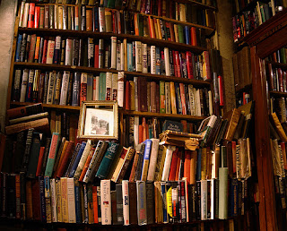 books on shelf