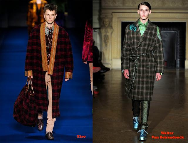 Tendencias otoño_invierno 2013-14 look pijama: Etro y Walter Van Beirendonck