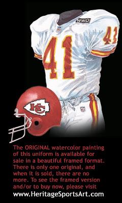 Kansas City Chiefs 1992 uniform