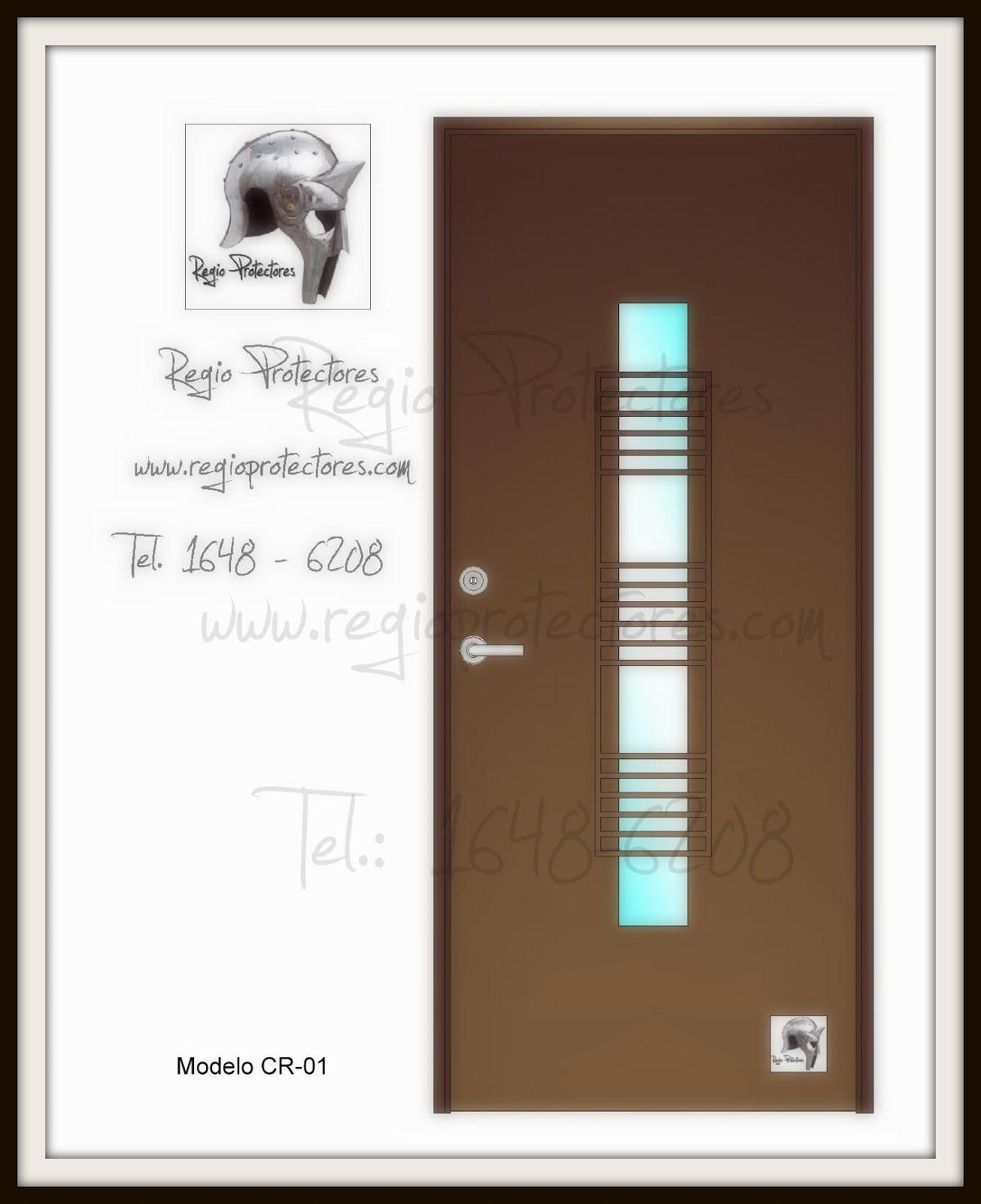 Regio protectores puerta contempor nea de hierro modelo for Modelos de puertas principales en metal