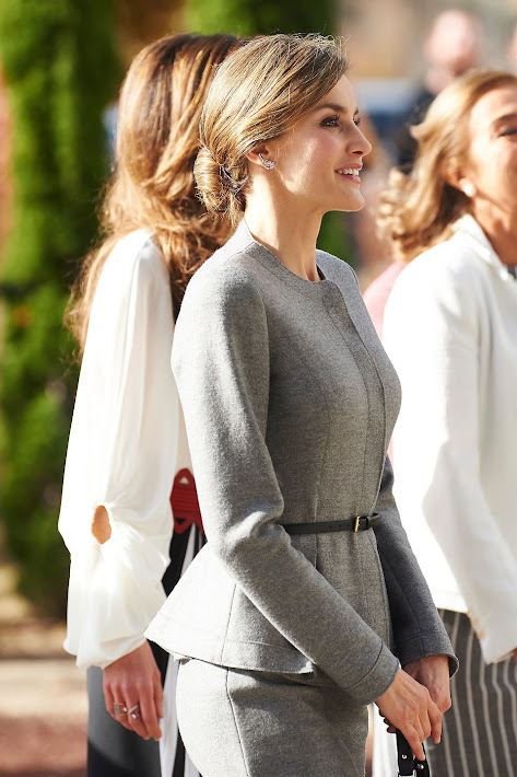 Queen Letizia of Spain and Queen Rania Abdullah of Jordan visit the Molecular Biology Center 'Severo Ochoa' at the Autonoma University