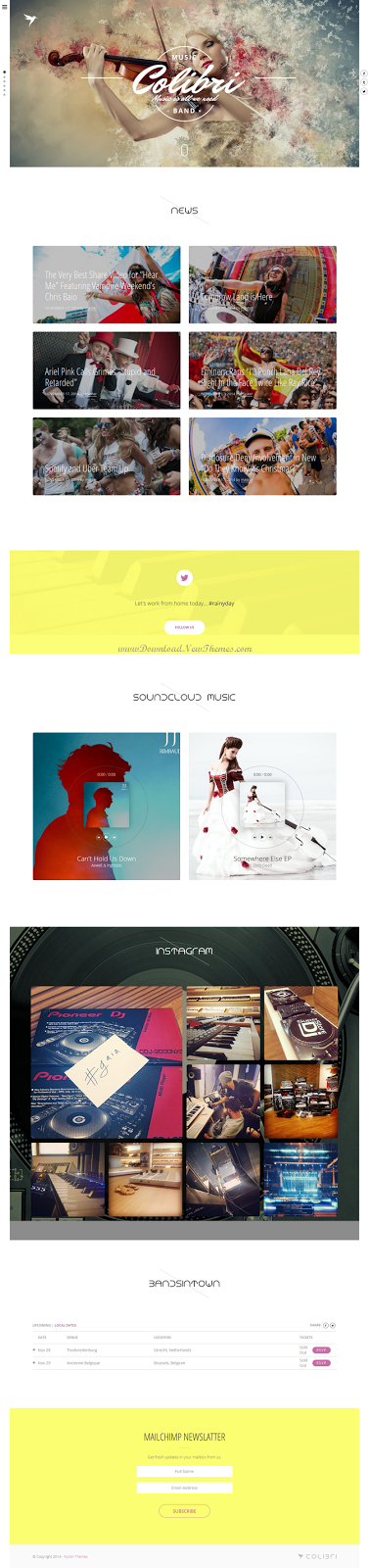 Colibriii WP theme for busy musicans