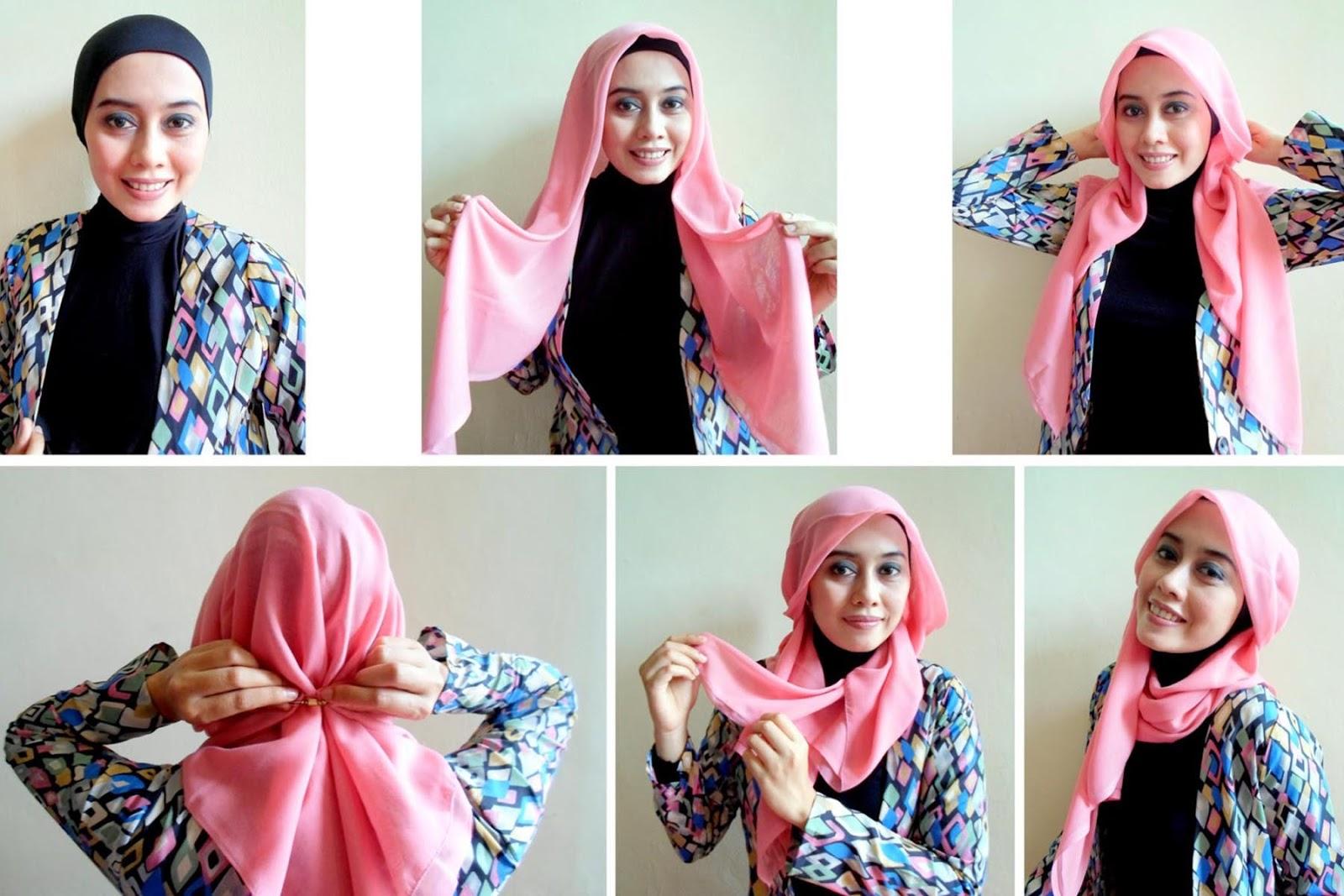 Tutorial Hijab Paris Bagian 1