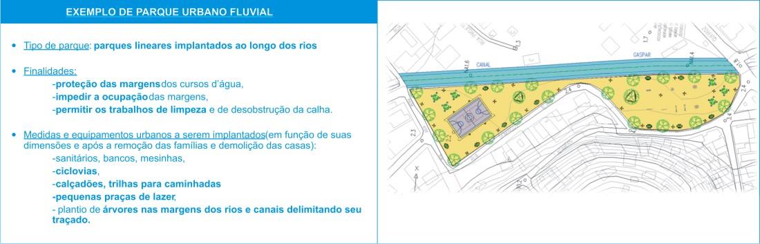 Projeto de Parque Urbano Fluvial.
