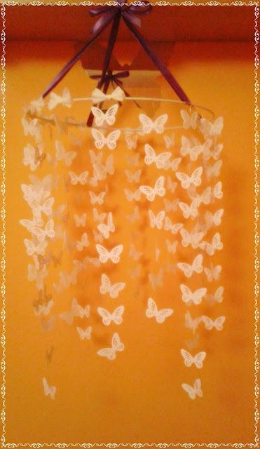 Wisząca ozdoba nad łóżeczko dziecka - motylki :)