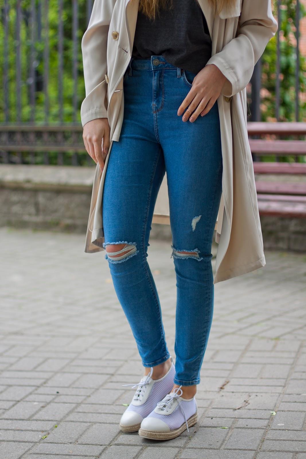 idealne jeansy topshop zalando