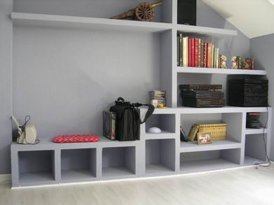 Muebles de pladur aprender hacer bricolaje casero - Muebles de mamposteria de salon ...