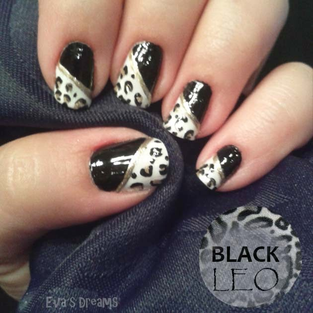 Nails of the week: Black Leo Nails