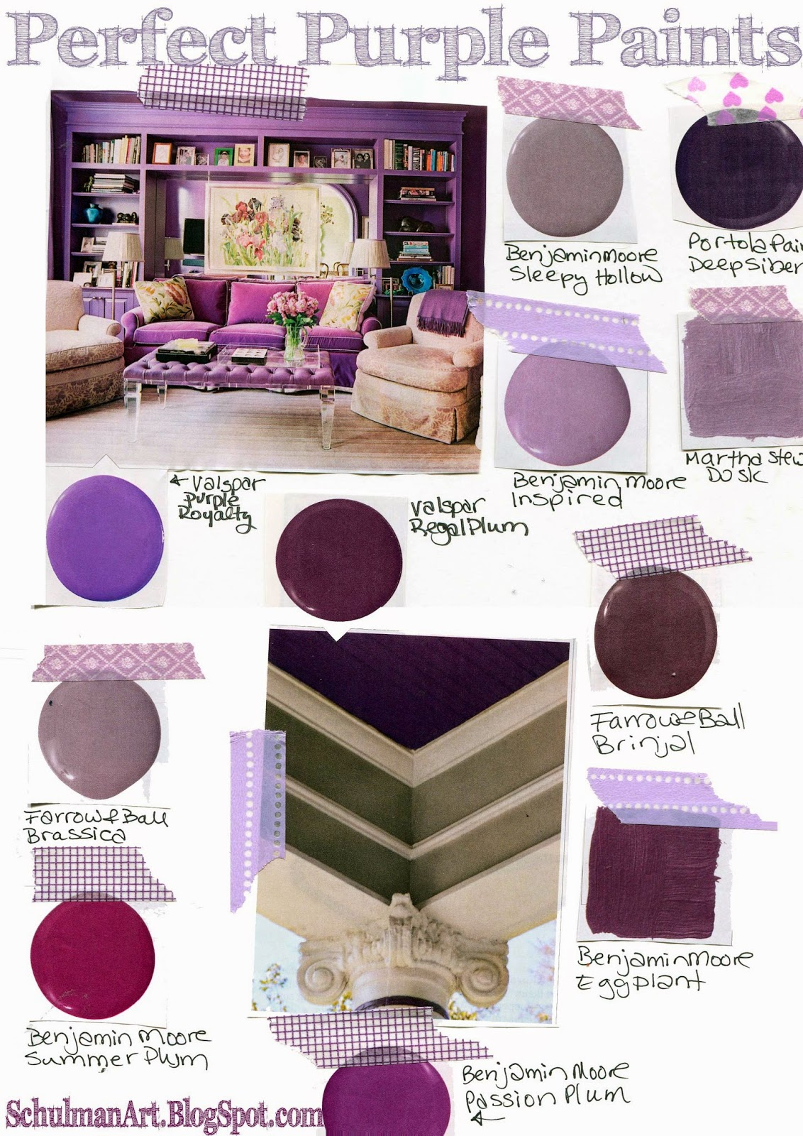 Art blog for creative living 11 perfect purple paint shades - What colors make purple paint ...