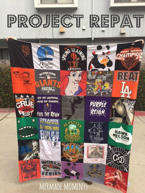 Mermade Moments: T Shirt Quilt with Project Repat!!!! : repat quilts - Adamdwight.com