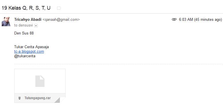 Sent mail bukti email telah terkirim