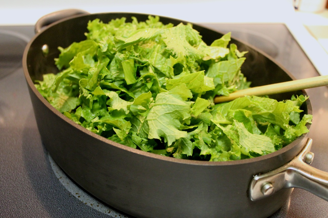 mustard greens recipe myrecipes com braised mustard greens with bacon ...