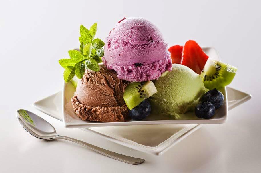ice-cream-sweets-dessert-balls-blueberries-hd