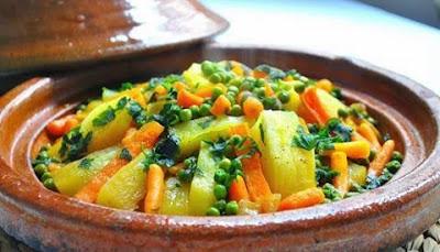 طاجين بالخضراوات