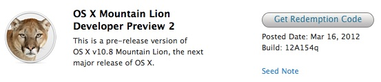 Apple's OS X 10.8 Mountain Lion developer preview released