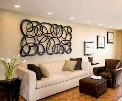 Metal Wall Art in living room