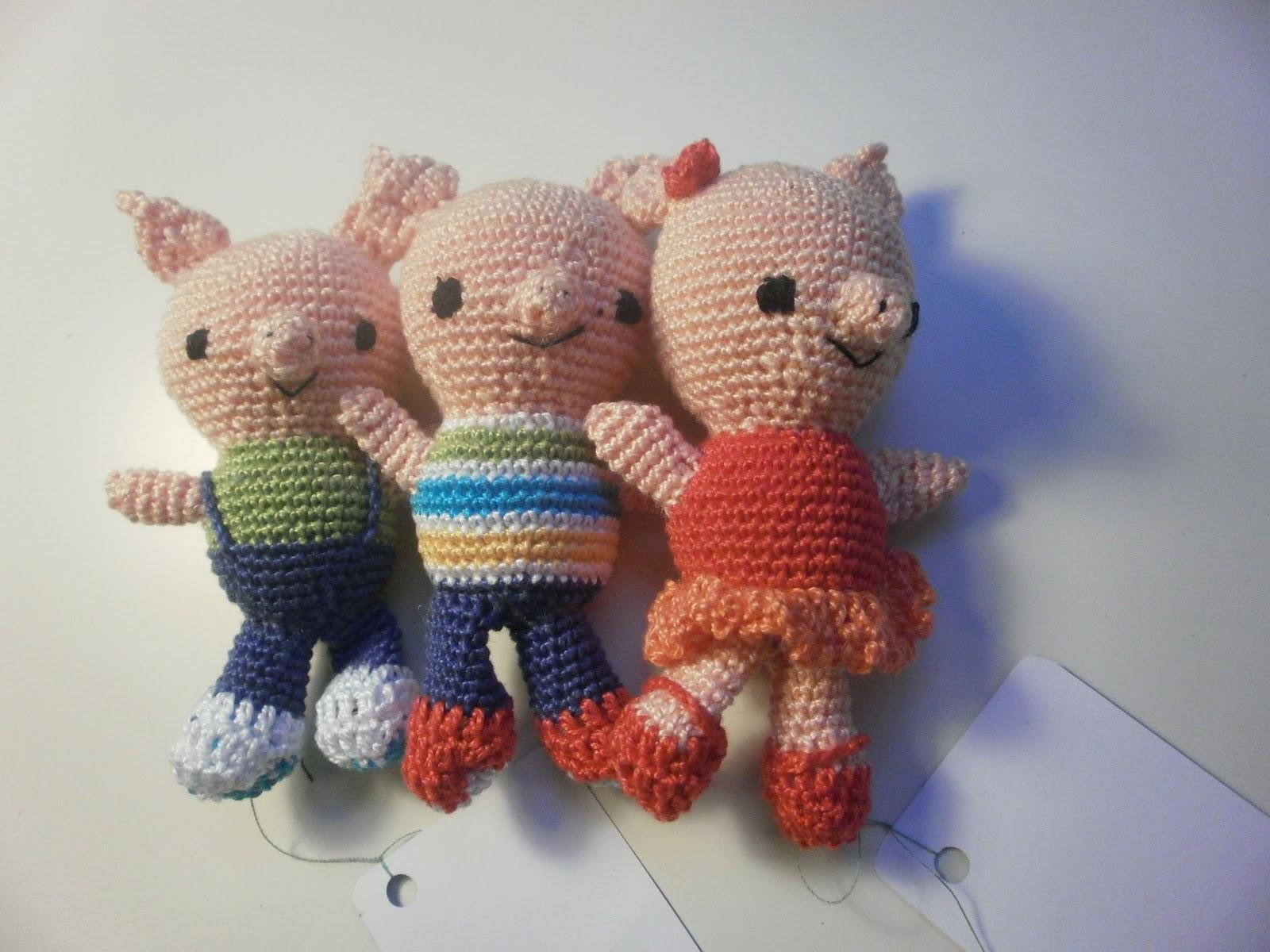 Los tres cerditos amigurumi