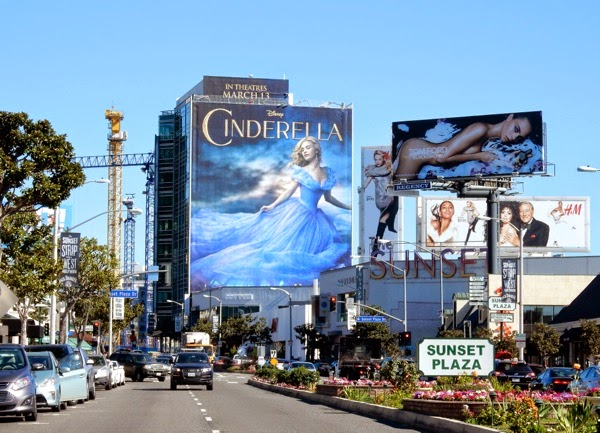 Disney Cinderella movie billboard