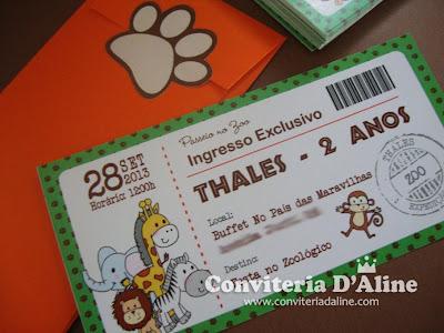 convite safari zoológico