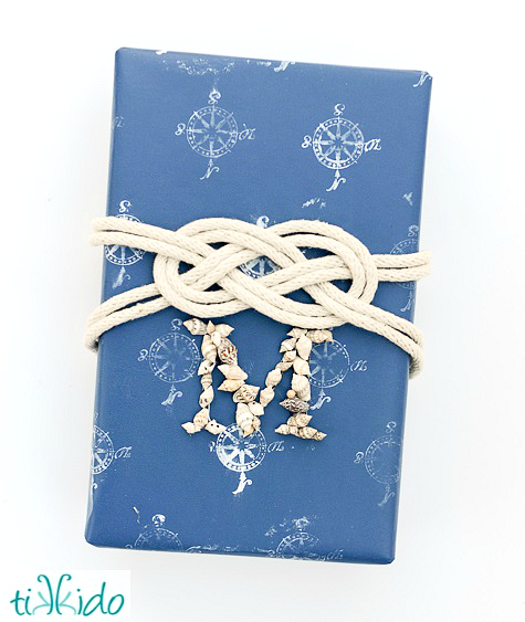 nautical knot gift wrapping ideas