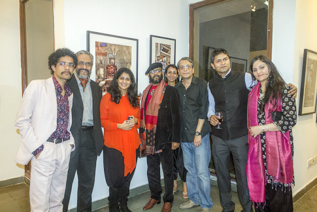 'FAITHfully Yours', a Photography Exhibition is inaugurated on 8th March at Arpana Caur Gallery near Siri Fort Auditorium. Inauguration was at 7pm and event lasted for 3-4 hours. Seven Artists Ambik Sethi, Augustus Mithal, Rajesh Ramakrishnan, Raajan Sharma, Shilpi Choudhuri, Shivani Punia and VJ Sharma are showcasing their work during next 10 days. Show will be on till17th March 2013.Show was inaugurated by the famous Fashion Designer Rina Dhaka, Award Winner Journalist Sonal Kalra, the famous Indian Contemporary Artist Jaishree Barman and few other ladies. Since it was a women's day, all ladies were there as chief guests. It was great to have Paresh Maity at inauguration. Mr. Paresh Maity has had more than 50 shows in thirty years. He gradually moved from atmospheric scenery to representations of the human form. His more recent paintings are bold and graphic, with a strong color and unusual cropping. His works are in a number of collections, including the British Museum, and the National Gallery of Modern Art, New Delhi. In early years he did many watercolors of different locations.Paresh painted for newly built Terminal 3 at Delhi Airport. He has created the biggest painting of his life and probably the longest in India. It stretches up to over 850 feet and is surely one of the most monumental paintings in the world. In August 2011, his 55th solo show with water colour paintings based on the last 15 poems of poet Rabindranath Tagore, Shesh Lekha (The Last Writings, 1941), opened at the National Gallery of Modern Art, New Delhi. Many known faces from Photography, Art and media were around.  Every photographer has described FAITH in different aspects of life. Some have worked on some aspects of religious faith around the world, Faith in relationships and many more other aspects very well shown through visuals. VJ shares his work around 'The Question of FAITH' - Faith exists everywhere and in all of us, and yet everyone questions faith. The concept of faith is ridden with dilemmas, contradictions, and uncertainties. Human beings have searched for answers to these for centuries. Many philosophers have come to various conclusions, but the questions resurface without fail. These questions will continue to haunt us till we find the answers we are ready to accept. This photographic journey is an attempt to confront some of these questions and to reflect upon the world of the faithful, as we know itShilpi talking about her work and sharing with Rina Dhaka. Her work mainly revolves around various phases of life an how FAITH changes from one stage of life to another. She is showing great set of visuals in 9 frames. Overall response on inauguration day was amazing and whole group of artists if excited about next week.PHOTO JOURNEY will keep sharing more about this exhibition which is on for next whole week in Delhi
