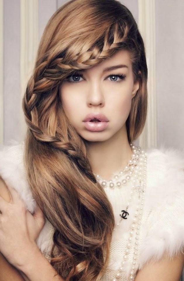 Model Rambut Untuk Pesta Modern 2015 Berkepang • ModelRambutKeren