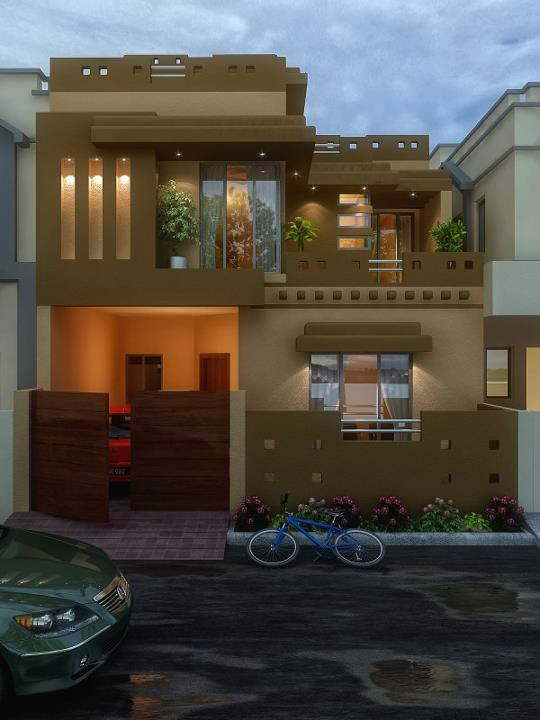 Front Elevation Of 5 Marla Houses Joy Studio Design