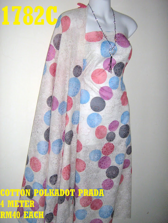 CP 1782C: COTTON POLKADOT PRADA, 4 METER