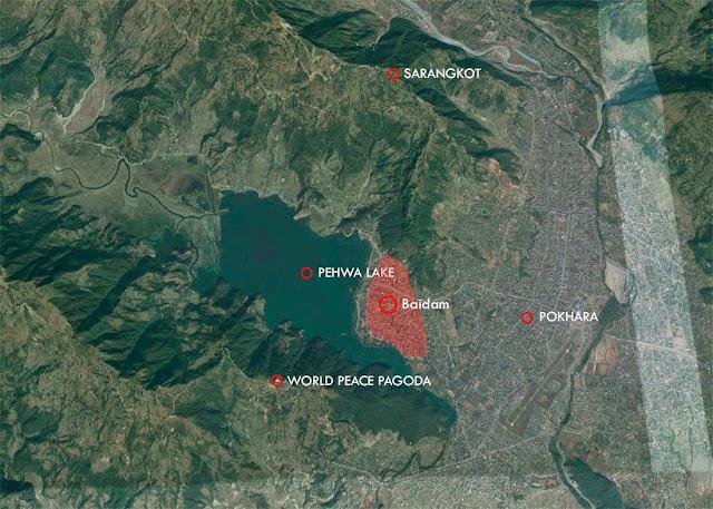 Mapa de Pokhara