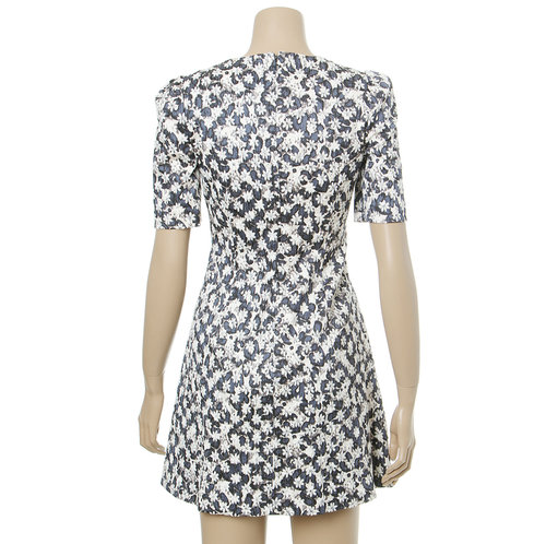 Floral Pattern Flared Dress