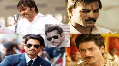 Ajay Devgan,Shahrukh khan,Sahid Kapoor, Salman Khan, Vivek Oberoy in moustache